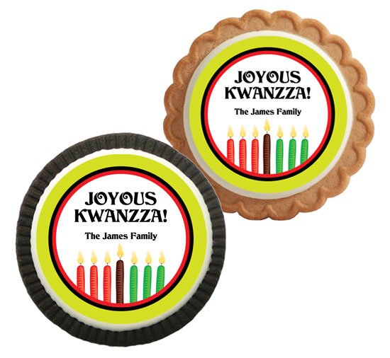 Kwanzaa Kinara Theme Custom Cookie