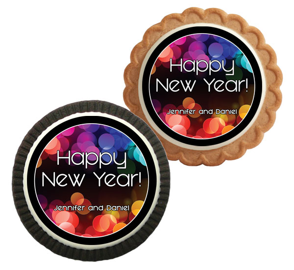 A New Years Colors Theme Cookie