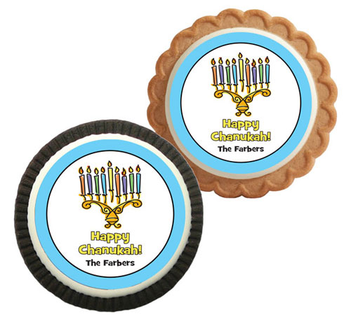 Chanukah Menorah Theme Custom Cookie