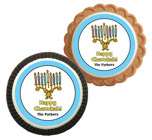 Chanukah Menorah Theme Custom Cookie