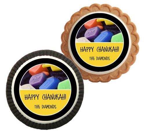 Chanukah Dreidel Theme Custom Cookie