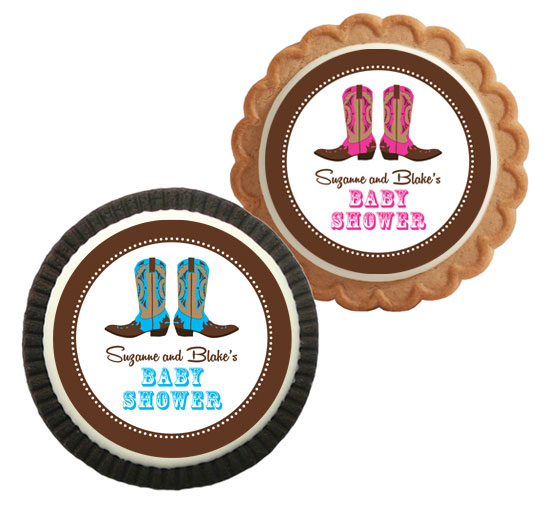Western Baby Theme Custom Cookie