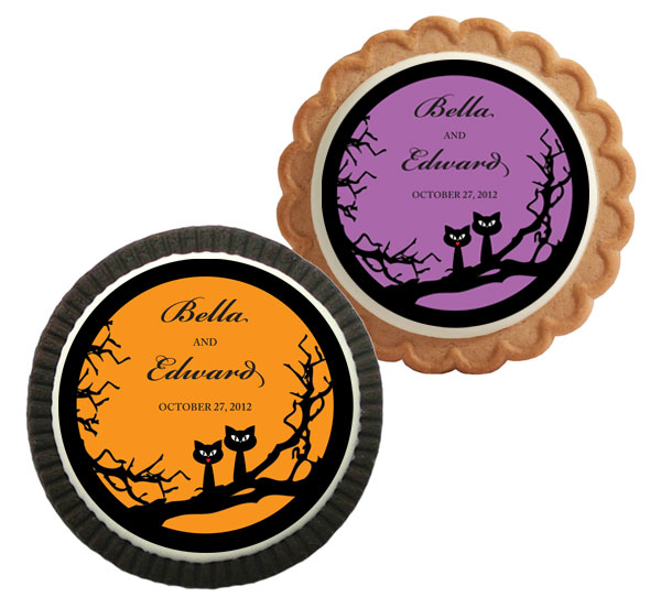 Halloween Wedding Theme Custom Cookie / A great Halloween cookie for a Halloween wedding