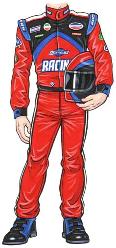 Race Car Driver Cutout