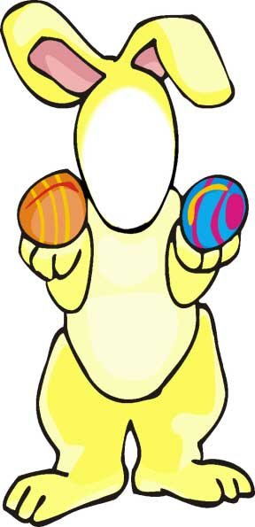 Easter Bunny Cutout / Hippity-Hoppity Easter's on its way! Fun for kids.