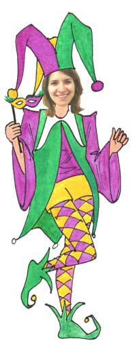 Jester Female Cutout / Jesters mean fun, frolic with a bit of mischief thrown in. Sound like you?