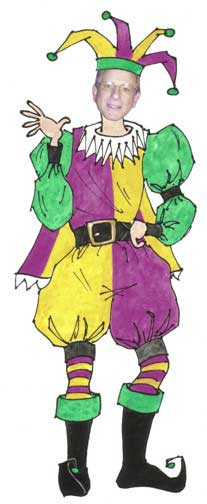 Jester Male Cutout / We'll add your photo and turn your into a jester