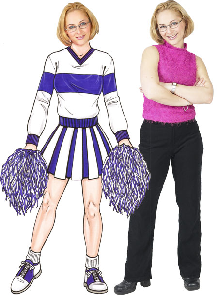 Cheerleader Life-Sized Cutout / Sis Boom Bah. We're having a party. Rah, Rah, Rah!