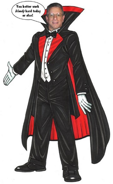 Halloween Cutout, Dracula / A well-dressed vampire to greet your guests on Halloween.