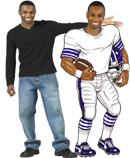 Football Player Cutout / Use this with our cheerleader cutout for a game winning combination.