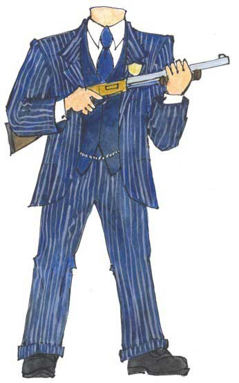20s Gangster Cutout