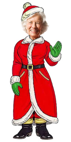 Christmas Theme Cutout, Mrs. Claus / Add your photo and become Mrs. Claus