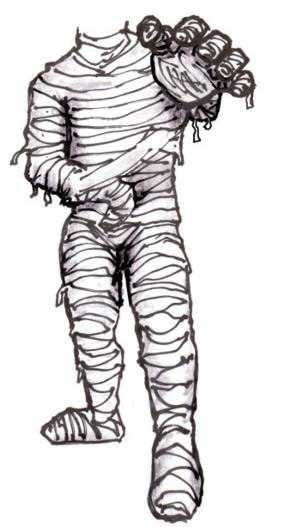 Halloween Cutout, Mummy