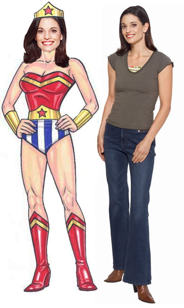 Super Hero Female Cutout