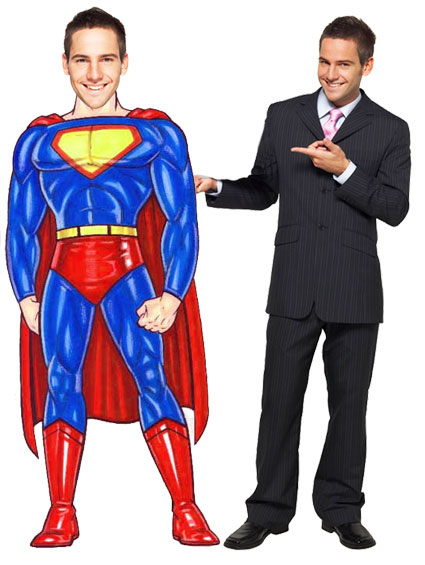 Super Hero Male Cutout / And so the fantasies of youth linger on.