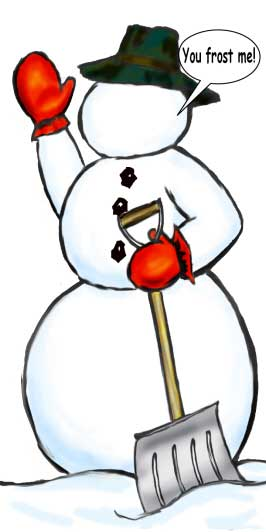 Snowman Cutout / Great for any winter party. Frosty rules!