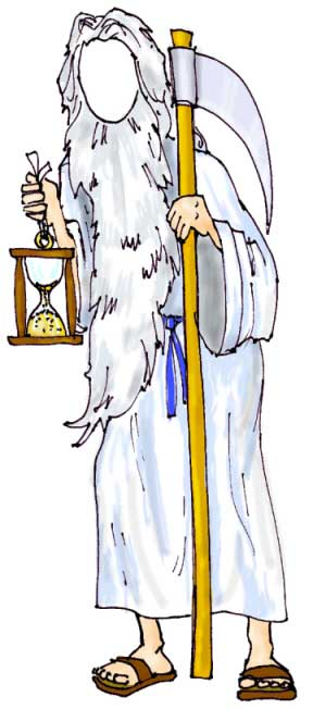 New Years Theme Cutout, Father Time