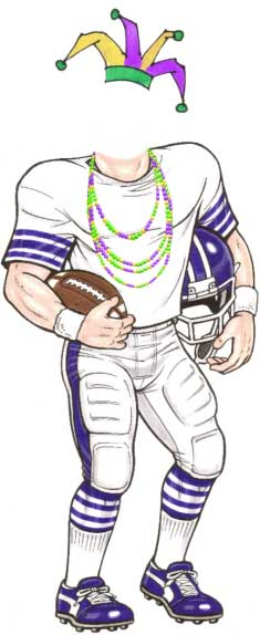 Mardi Gras Super Bowl Cutout / Jesters and football. It has to be fun.