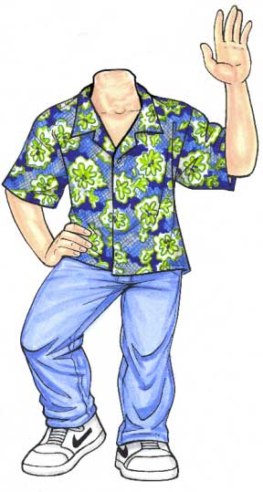 Luau Cutout, Teen Boy / A great beach theme cutout for a birthday or Bar Mitzvah