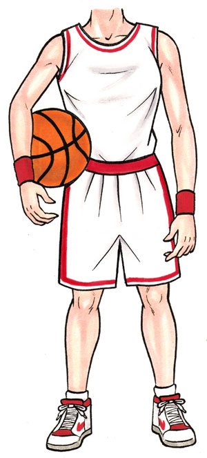 Basketball Player Female Cutout / She shoots. She scores! Believe me the girls can play.