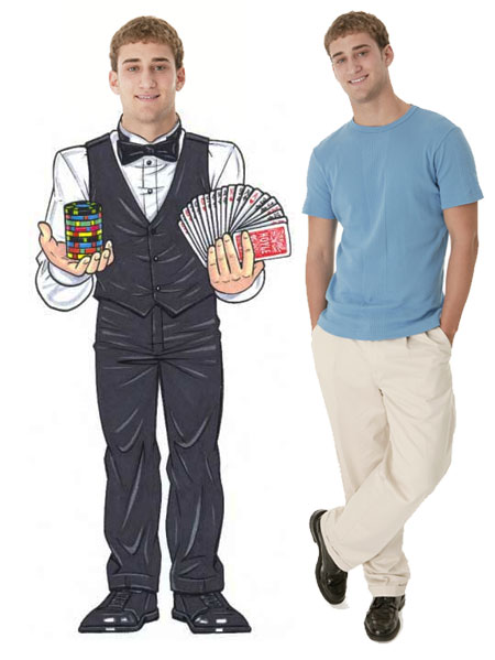 "Casino Dealer Male Cutout / Watch out if you're making a ""deal"" with this guy!"