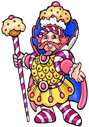 Candyland King Kandy Cutout / Now he looks like the King of Kandyland!