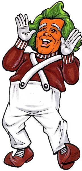 Willy Wonka, Oompa Loompa Theme Cutout / Ooompa Loompa, Doompadah Dee. If you are wise you'll listen to me.