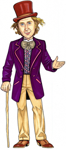 Willy Wonka Cutout