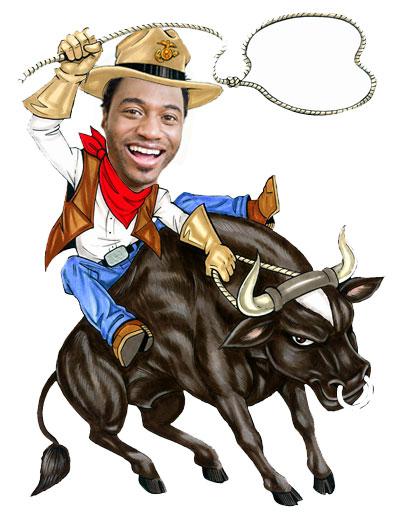 Bull Rider Cutout