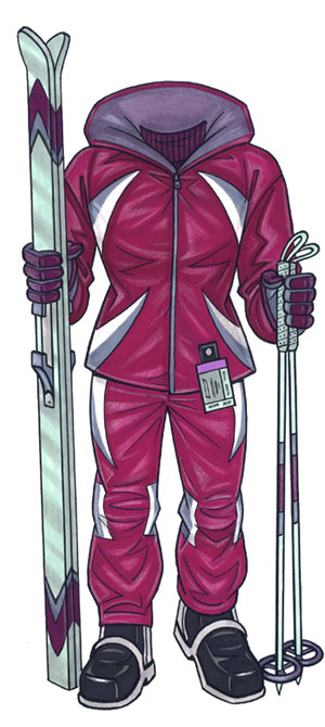 Skier Female Life-Sized Cutout / She's ready to hit the slopes!