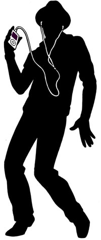 Ipod lifesize cutout, male