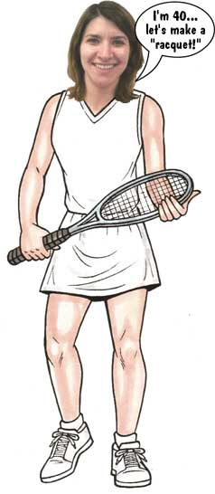 "Tennis Female Cutout / ""Let"" your playing partners join the party. This cutout is an ace."