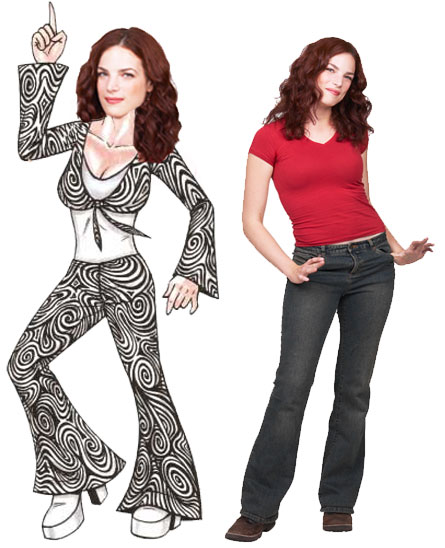 Disco Female Cutout / Your party will be a Disco Inferno! Don't worry you will survive.