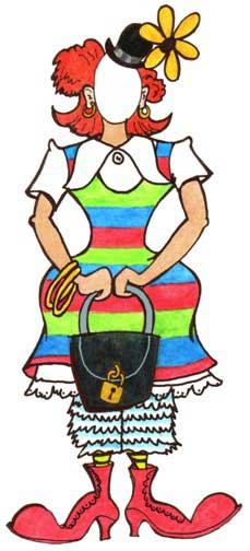Circus Clown Female Cutout