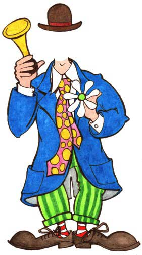 Circus Clown Male Cutout / Add a face and become a circus clown