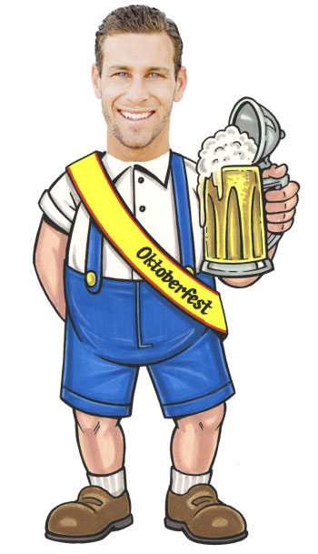 Oktoberfest Cutout, Male / This guy is ready for your Oktoberfest party