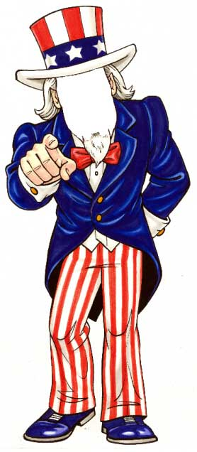 American Patriotic Cutout, Male / Have an Uncle Sam cutout greet your guests at the door.