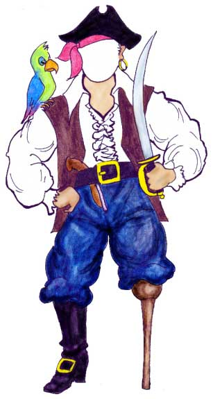 Pirate Theme Cutout / Ok, you brigand it's time to lead your crew into a great time.