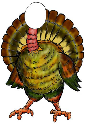 Thanksgiving Holiday Turkey Cutout