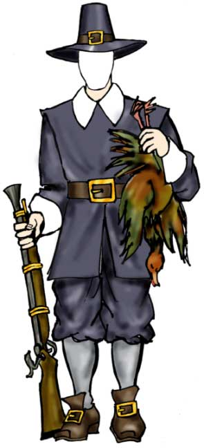 Pilgrim Male Holiday Cutout
