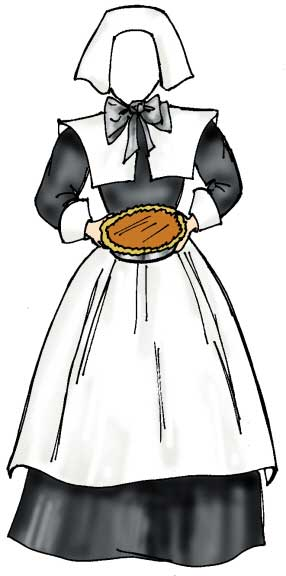 Pilgrim Female Holiday Cutout