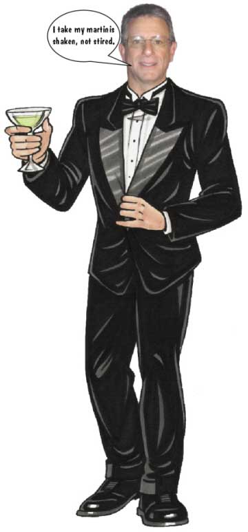 Bond With Martini Theme Cutout / The perfect party host.