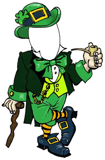 St. Patrick's Day Holiday Leprechaun Male Cutout