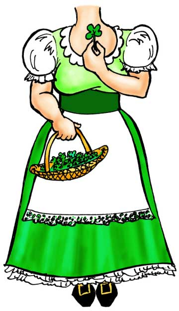 St. Patrick's Day Leprechaun Female Cutout