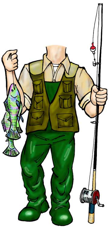 Fisherman Life-Sized Cutout / Nothing fishy about this cutout. A great catch.
