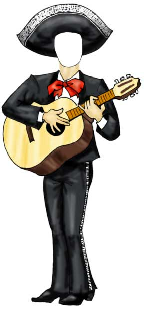 Fiesta Cutout, Mariachi Male / Add a face to this mariachi man!