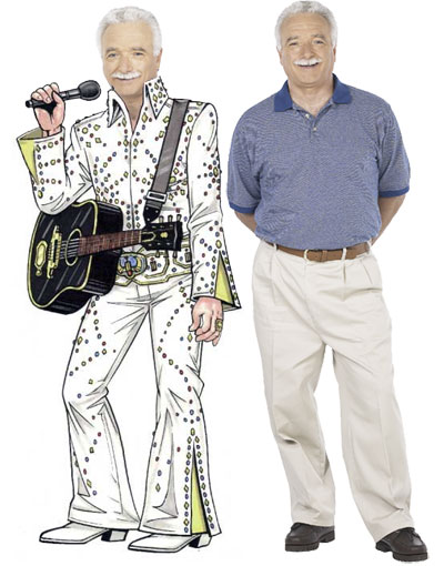 Elvis Cutout / Elvis is in the building with this super cutout!