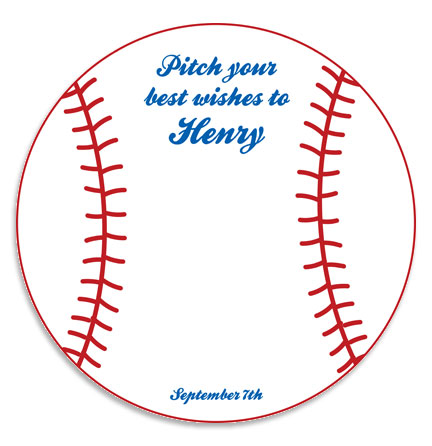 Baseball All Star Sign In Board / Get the game started with a message for the guest of honor