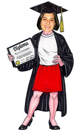 2014 Graduate Life-Sized Cutout, Female Grad / A personalized graduation cutout for your party
