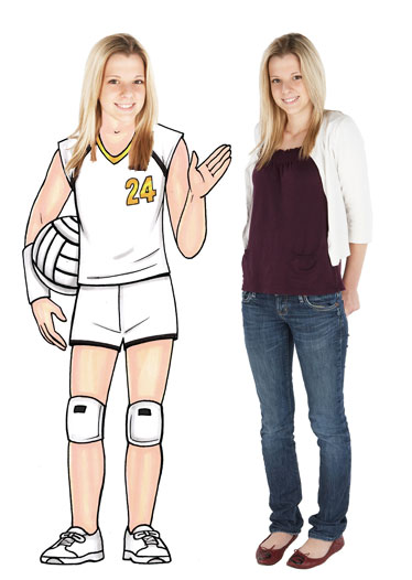 Volleyball Player Female Cutout / For your volleyball star!